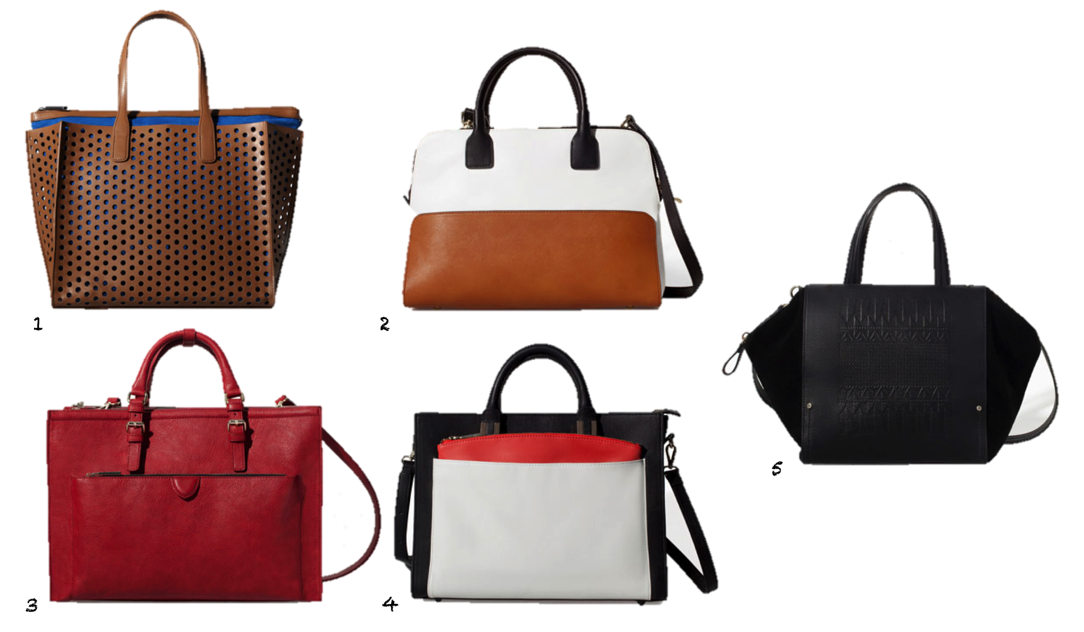 Zara Perforated Shopper Bag Perforated Shopper Bag