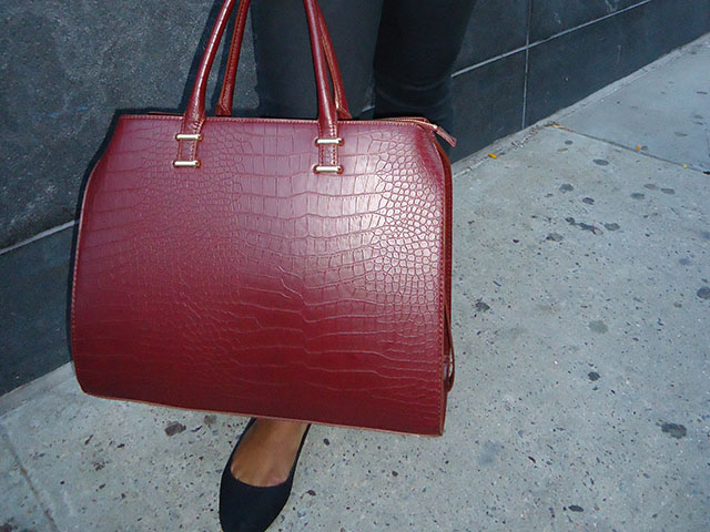 Blazer, Burgundy Bag, HM, Outfit of the Day, Uniqlo, Yanni's Style