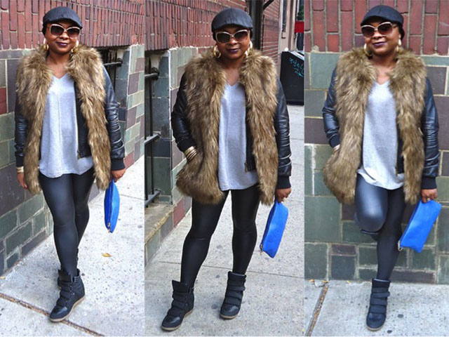 Boohoo, Express, Faux Fur Vest, Forever21 Street Style, LOTD, Mac Cosmetics, Outfit of the Day, Style Inspiration, Target, Yanni's Style