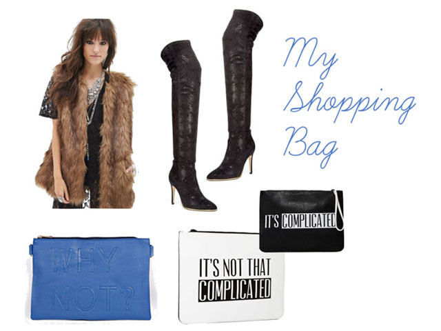 black friday, Boohoo.com, Clutches, deals, Fashion Finds, Fashion Talk, Faux Fur Vest, Forever21, GUESS, Macy's, My Shopping Bag, Nastygal.com, Polyvore, Shoes, steals, Style Inspiration