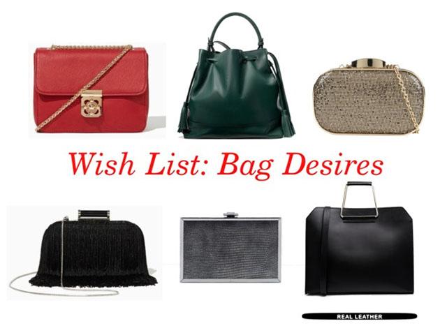Aldo, ASOS, Bag Desires, Charming Charlie, Fashion Talk, Shopping, Wish List, Zara