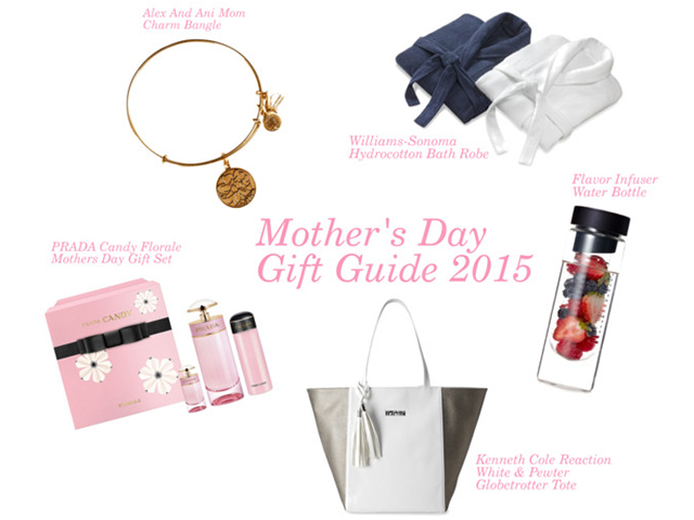 Mothersday, Mothersdaygiftguide, gifts, mom, may, jewelry, alexandani,kennethcole,prada,williamssonoma